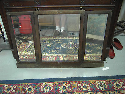 Antique Victorian Folding Wall Hanging Mirror w/Beveled Edges Made Chatanooga Tn