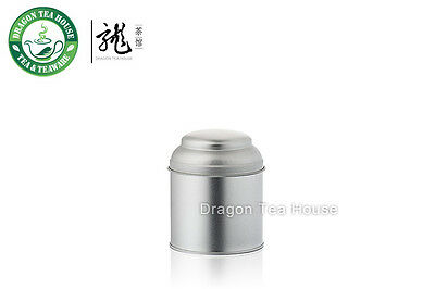 Silver Color Double Lid Tea Tin Metal Canister Coffee Can 190ml 6oz (S)