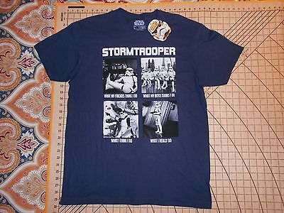 MENS SIZE LARGE STAR WARS FUNNY STORMTROOPER T -SHIRT - NWT