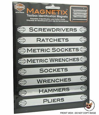 Harley Davidson Magnetic Toolbox Id Labels Chroma Magnetix  Made In Usa