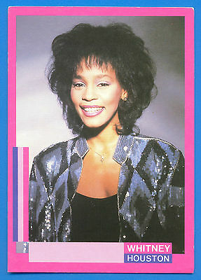 WHITNEY HOUSTON.2 POSTCARDS AND ONE FOLDING GREETINGS CARD.ALL PUBLISHED 1980s