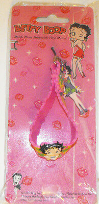 Betty Boop Pink Plastic Bracelet Cell Phone Strap or Purse or Bag Dangle Charm