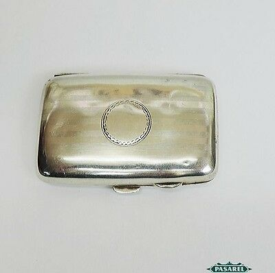 Sterling Silver Curved Cigarette Case By G.W Harvey & Co Birmingham England 1913