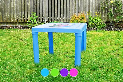"""Brights"" Childrens Kids Plastic Table for Indoor & Outdoor Use 49 x 49 x 44cm"
