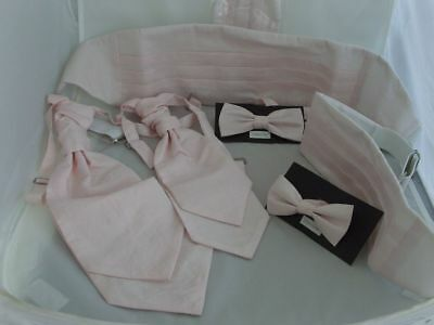 GG Polyester Light Pink-Rose Water Collection Boys/Mens-Bow ties-Cravats-Hankie