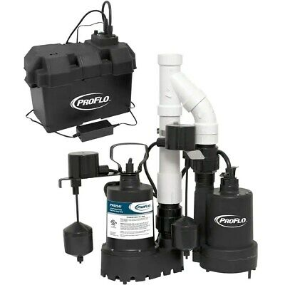 ProFlo PF92941 - 3/10 HP Combination Primary & Backup Sump Pump System