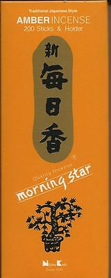Morning Star Incense Sticks 200 Sticks With Holder You Pick Scents Nippon
