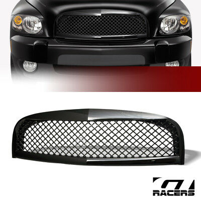 Black Sport Mesh Style Front Hood Bumper Grill Grille Cover Abs 06-10 Chevy Hhr