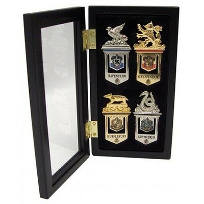 Harry Potter Hogwarts House Bookmarks with Display Case - Official Boxed Noble