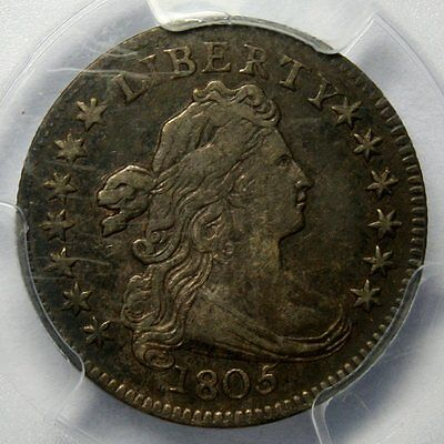 1805 Draped Bust Silver Dime * PCGS XF40 * 4 Berries * Gorgeous Coin