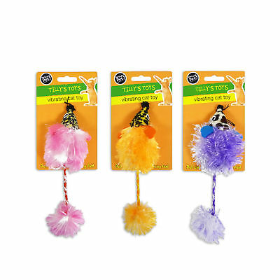 """""""Tilly's Toys"""" Furry Mouse Vibrating Cat Toy for Cat & Kitten by World of Pets"""