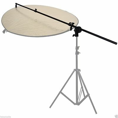 Photography Reflector Disc Holder 187cm Boom Arm Grip Clamp Studio Photo Video