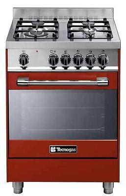 Gas cooker 60x60 cm, 4 burners, gas oven - Tecnogas Heavy Duty PTV662RS