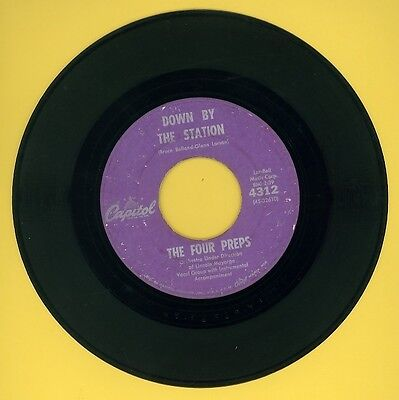 """Four Preps - Down By the Station - 1960 hit by the group who gave us """"Big Man"""""""