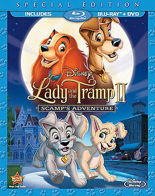 Lady and the Tramp II: Scamp's Adventure (Blu-ray/DVD, 2012, 2-Disc Set) NEW
