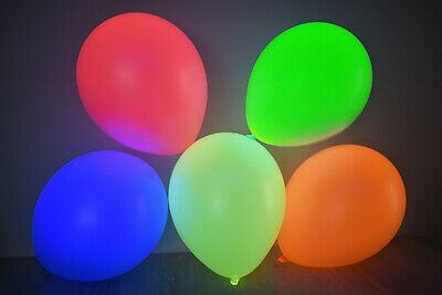 Set of 25 Assorted 11 inch UV Blacklight Reactive Latex Balloons (6 Color Mix)