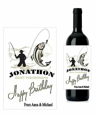 #BF1 Best Friend Personalised Wine Labels Gift 12.7cm x 8.4cm set 2