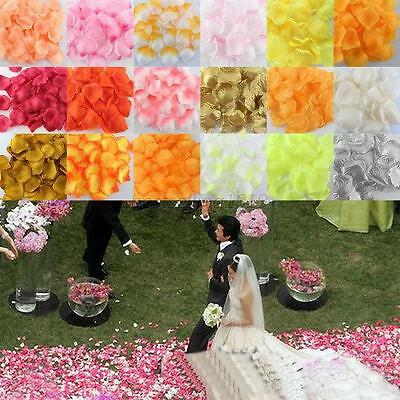 100pcs Various Silk Rose Flower Petals for Wedding Party Table Confetti Decor