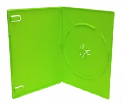 10 SLIM Solid Green Color Single DVD Cases 7MM