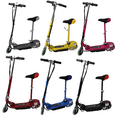Electric Scooter Kids Ride On Stand Escooter Adjustable Seat Battery Powered