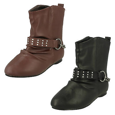 Wholesale Girls Boots 16 Pairs Sizes 10-2  H4087
