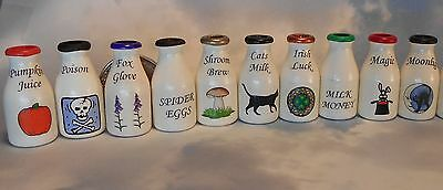 Potion pots dollhouse miniature,witch,Halloween,wizard,Wiccan,haunted,spooky,FUN