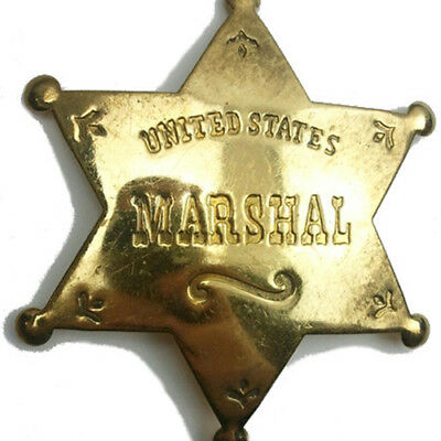 United States Marshal Western Badge Solid Brass