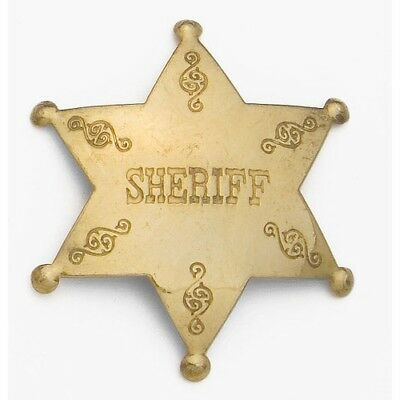Sheriff Western Badge Solid Brass