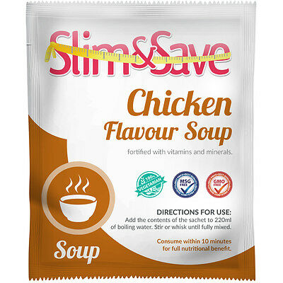 Slim&Save VLCD Vegetarian Chicken Flavour Soup-Total Meal Replacement Diet-CHSP1
