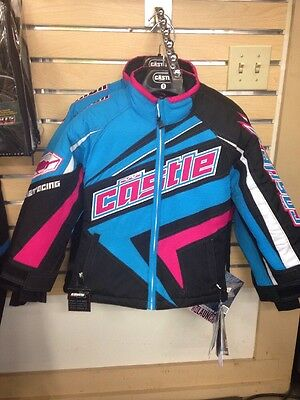 Castle X Girls Launch Jacket Sz S Black/blue/pink NWT 2015 new snowmobile coat X