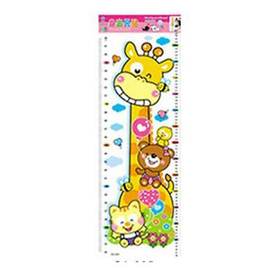 Giraffe Growth Height Ruler Measure Home Wall PVC Sticker Paster Removale Paper