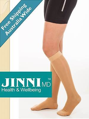 Medical Compression Stockings Knee High By Jinni MD TGA Certified ***NEW***