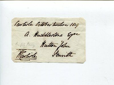 Hugh Percy Bishop of Carlisle Rochester Dean Canterbury Clergy Signed Autograph