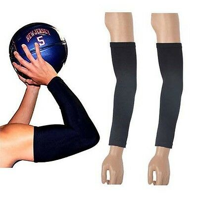 1 Pair Arm Sleeves UV Sun Protection Basketball Gym Cycling Volleyball Stretch