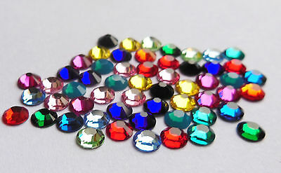 144 SWAROVSKI Foiled Flatback Crystals SS16 - STUNNING COLOURS - GREAT PRICE
