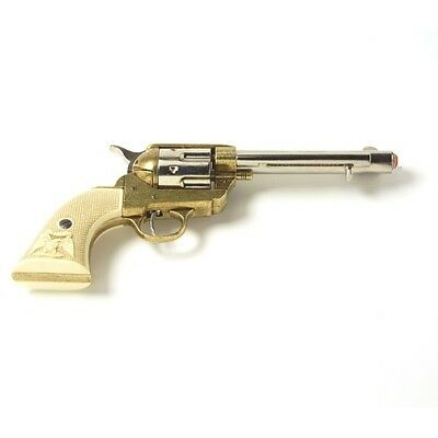 M1873 Old West Frontier Revolver Replica - Nickel/Gold Finish