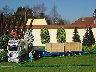 Truck  Scania Tekno Heuvel New 1:50  trailer to transport machinery