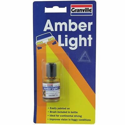 Granville Amber Paint Lacquer Car Headlight Headlamp Glass Lens Continental Euro