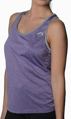 More Mile Marl Ladies Running Vest - Purple