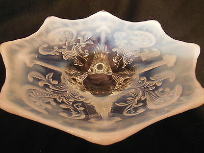 Antique Opalescent White Inverted Fan and Feather Whimsey Northwood SALE