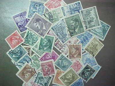 40 DIFFERENT BOHEMIA & MORAVIA STAMP COLLECTION - LOT / with many Hitler stamps