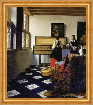 Lady at the Virginal with a Gentleman Jan Vermeer Musik Lesson Krug B A3 02463