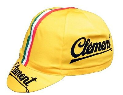 CLEMENT RETRO CYCLING TEAM CAP - Vintage - Fixed Gear Made in Italy