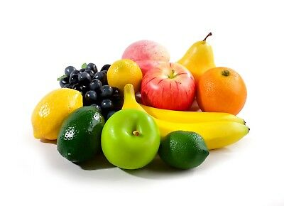12 Mixed Pieces of Best Artificial Fruit Realistic Decorative for Bowl or Basket