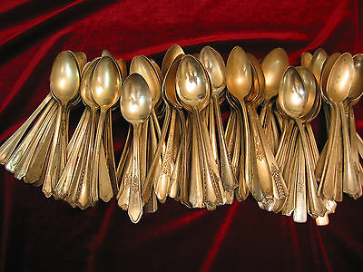 Silverplate Flatware Teaspoon Lot of 100 Vintage Teaspoons Craft Silverplate