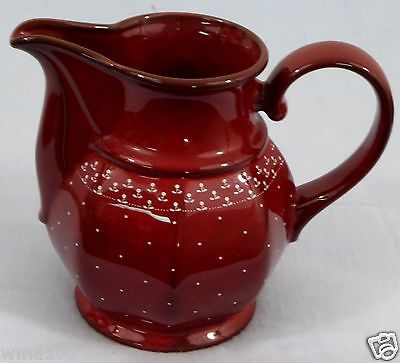 Hartsteingut Germany ROSEMARIE Pitcher Red Ceramic Pottery PRETTY!