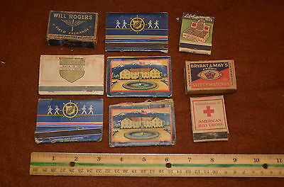 VINTAGE WORLD WAR II ERA MILITARY MATCHBOOK LOT - Collection of 9