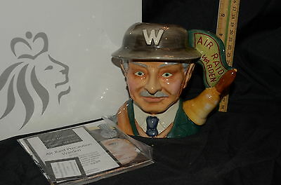 Royal Doulton Character Jug AIR RAID WARDEN D7209 LImited Edition 250 RARE