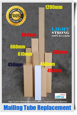 25 1200mm Long Box 1.2M 80x80x1200mm  Shipping Carton Mailing Tube Replacement
