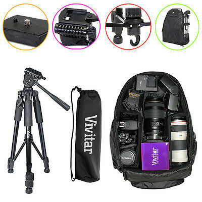 Tripod Backpack Bag Accessory Kit for Canon Rebel T3i T5i 50D 60D 70D SLR Camera